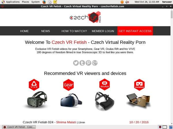 Czech VR Fetish Premium Account Login