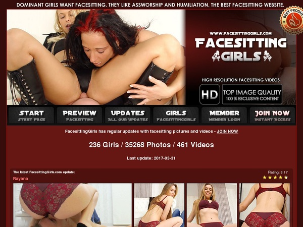 Facesitting Girls Free Trial