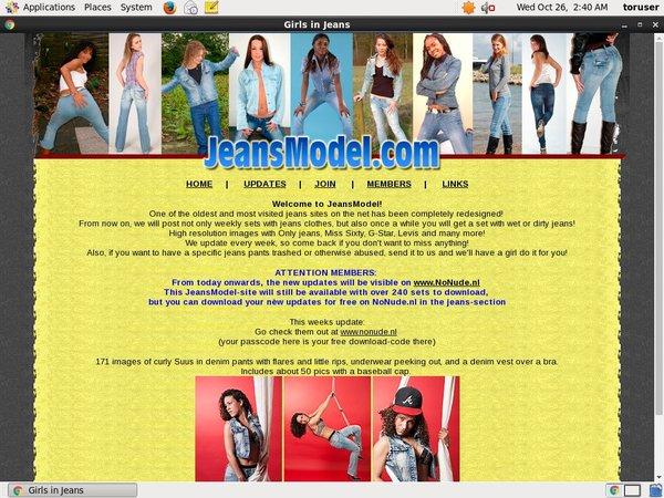 Jeans Model Member Access