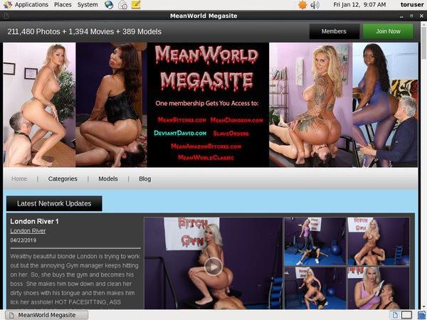 Meanworld.com Adult Passwords