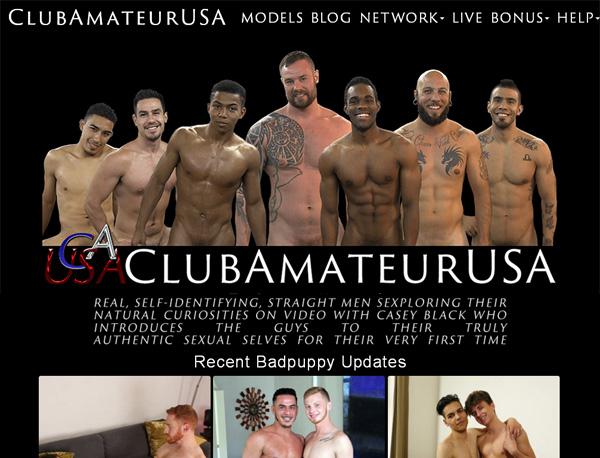 Create Club Amateur USA Account