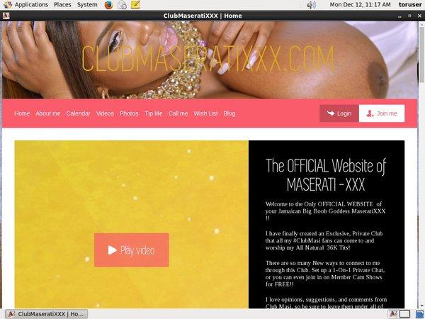Club Maserati XXX Network Login