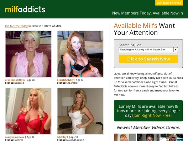 Free Pass For Milf Addicts